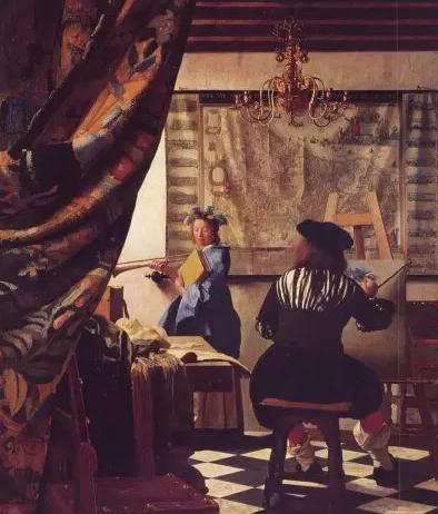 维米尔《画家的画室》