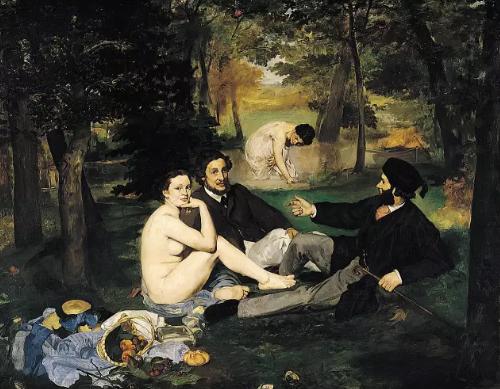 马奈的《草地上的午餐》